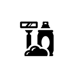 shave isolated icon vector image