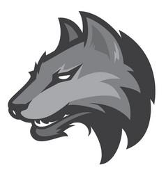 wolf sport logotype vector image