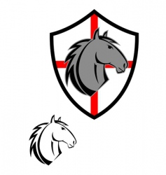 horse cartoon symbol vector image vector image