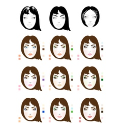 Make up patterns vector image vector image