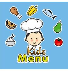 Boy chef vector image vector image