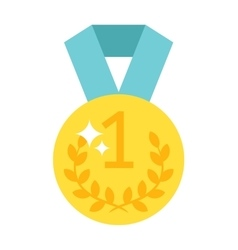 One number medal vector image