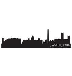 washington district of columbia skyline detailed s vector image