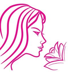 zodiac sign virgo logo vector image vector image