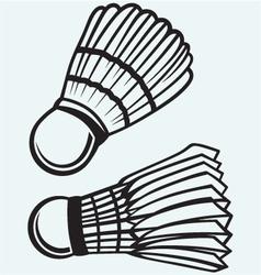 Badminton ball vector image