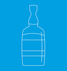 Brandy bottle icon outline style vector