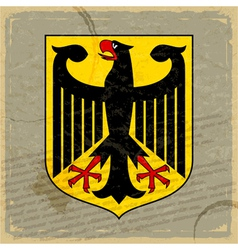 Coat of arms of Germany on the old postage card vector image vector image