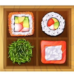 Japanese rice meals vector image vector image