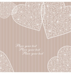 lace hearts vector image vector image