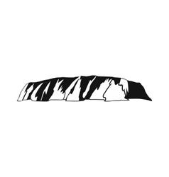 Majestic Uluru icon simple style vector image