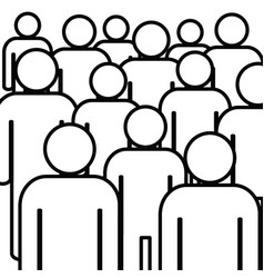 people icon set in black and white color vector image