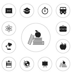 Set of 12 editable education icons includes vector