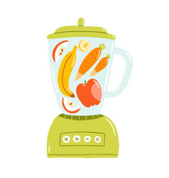 smoothie mixer vector image vector image
