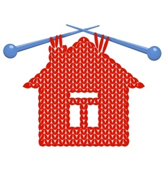 The house knitted on spokes vector image