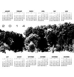 2014 Woods Calendar vector