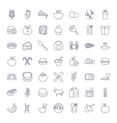 49 eat icons vector