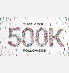 500k followers group business people vector