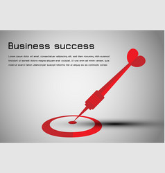 Abstract business concept dart red to goal vector