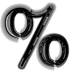 abstract font symbol vector image