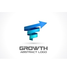 Abstract logo for business company growth vector
