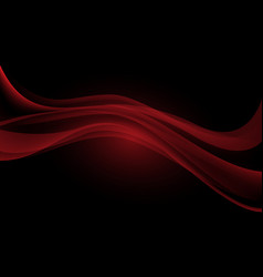 abstract red wave curve overlap on black design vector image