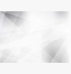 Abstract white and gray geometric background with vector