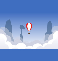 Air ballon flying over the sky vector