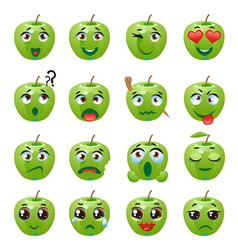Apple emoji emoticon expression vector