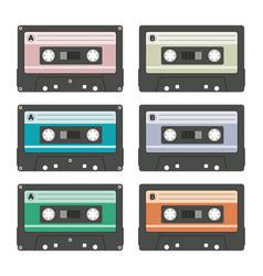 audio cassettes vector image