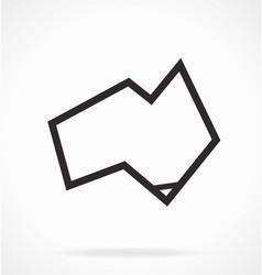 Australia map simplified geometric square vector