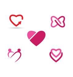 beauty love icon vector image