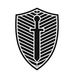 Best shield icon vector image