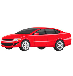 big red american family sedan for ride vector image