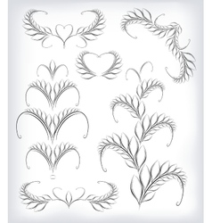 Black and white set a lot of patterns with vector image