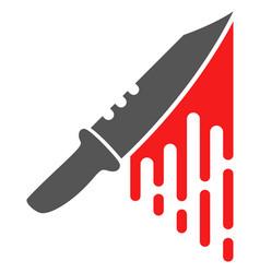 blood knife flat icon symbol vector image
