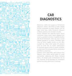 car diagnostics line pattern concept vector image