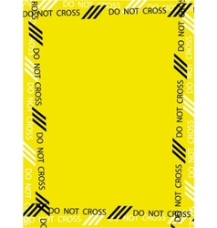 caution frame vector image