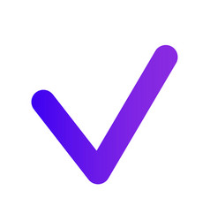 checkbox icon thin checkmark purple gradient vector image