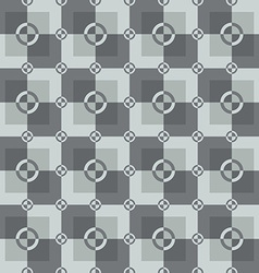 Circle-squares pattern in gray and white colors vector