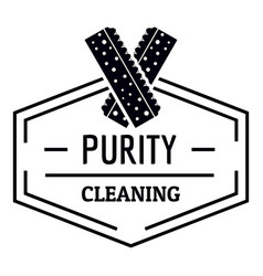 cleaning logo simple black style vector image