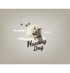 color a hunting dog vector image