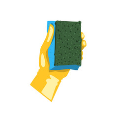 colorful icon of human hand in protective glove vector image