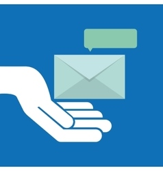 Concept email message chat icon vector