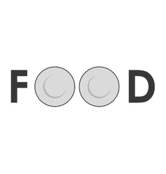 Couple of plate icon Food design graphic vector