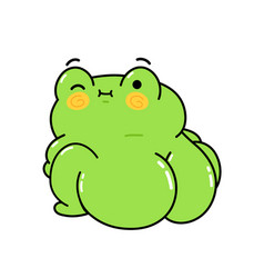 Cute funny frog with big buttock hand vector