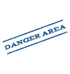 Danger Area Watermark Stamp vector