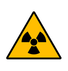 Danger radiation sign vector