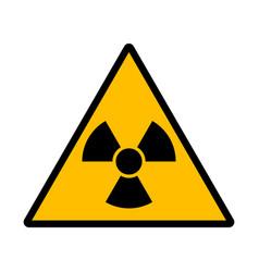 danger radiation sign vector image