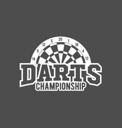 Darts labels set badge logos vector