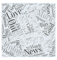 Department stores Word Cloud Concept vector